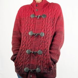 Express | Marled Waffle Knit Toggle Cardigan NWT